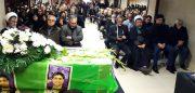 مراسم تشییع پیکرامیر حسین قاسمی از جانباختگان حادثه هواپیما اوکراین